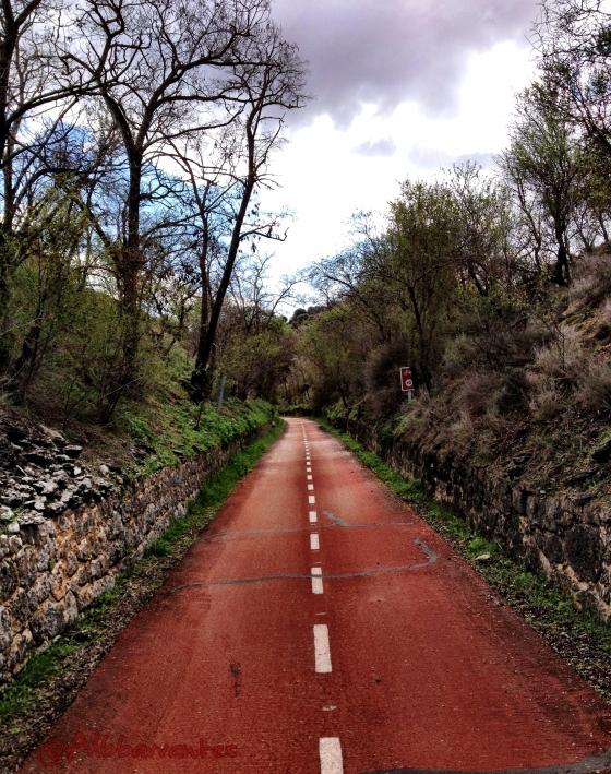 Lluvia otoñal en la Vía Verde del Tajuña