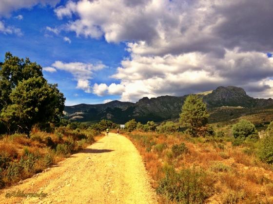 Subiendo hacia la Barranca en la Madrid-Segovia 2013