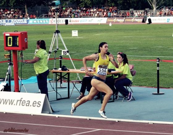 Carmen Romero. Campeona de Heptathlon