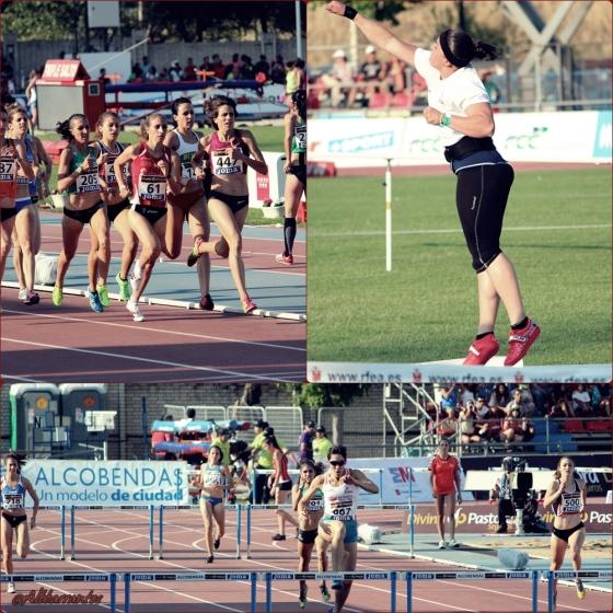1500 femeninos, Lanzamiento de peso, Laura Nataly Sotomayor en los 400 metros vallas.