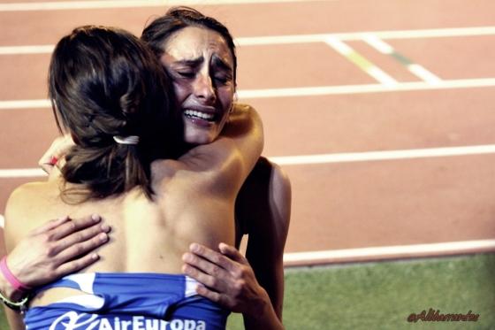 Felicidad de Soli Pereira, plata en 1500 metros.